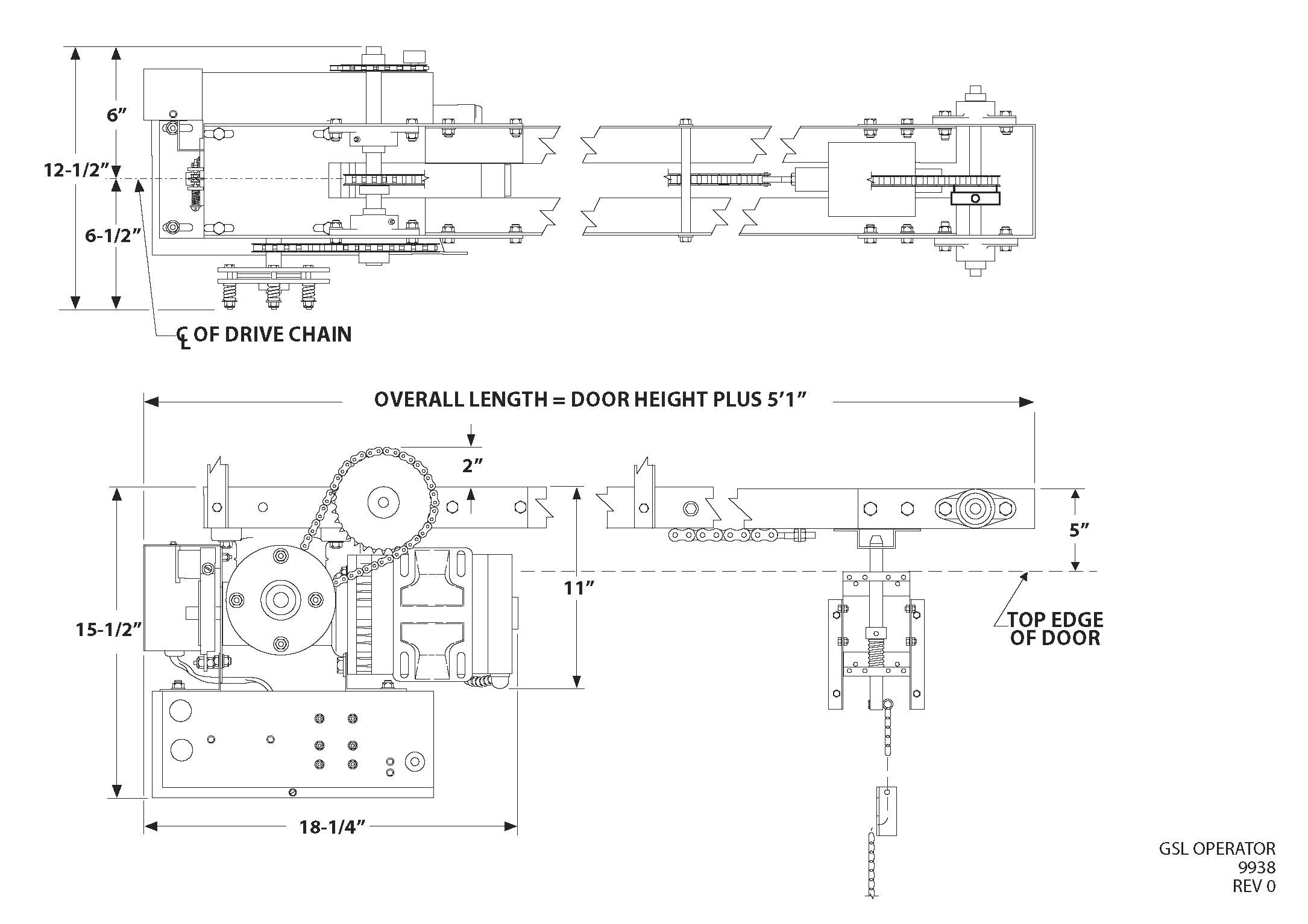PowerMaster Model GSL Line Drawing